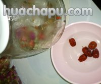红巧梅红枣桂圆花茶的做法步骤2